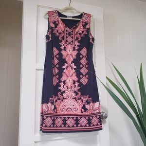 JM Collection Dresses - Sleeveless Pink & Navy JM Collections dress XL